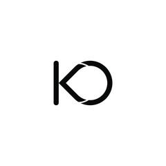 Fototapeta  illustration vector graphic of logo letter ko obraz