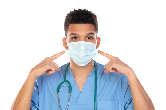 Latino doctor with mask in times of coronavirus