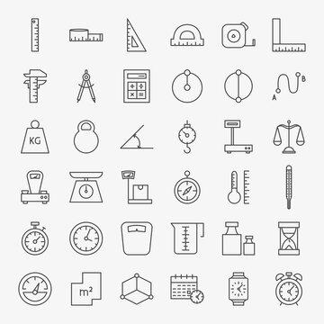 Measure Line Icons Set