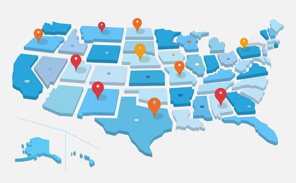 Geo mappa degli Stati Uniti d'America