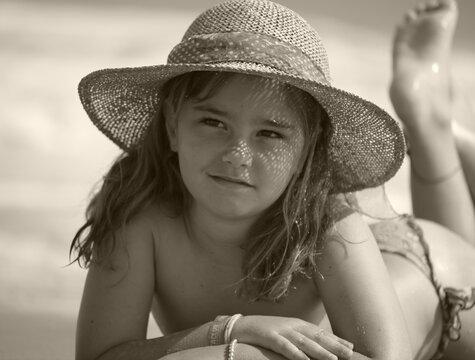 Little girl beach vacation 4