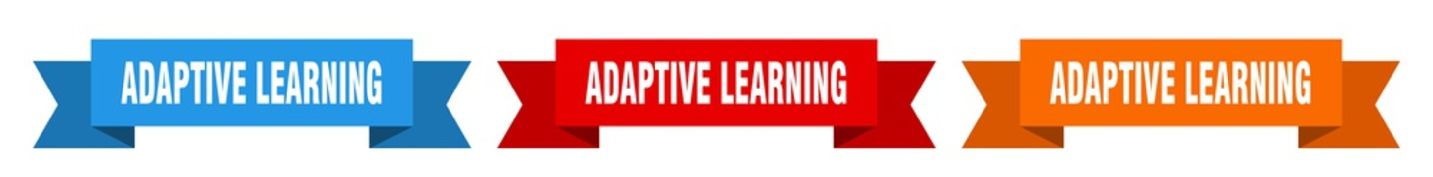 adaptive learning ribbon. adaptive learning isolated paper sign. banner