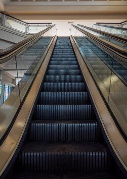 An Escalator in an Abandoned Mall