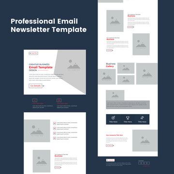 Corporate Business Service Promotional Professional Email Newsletter Template