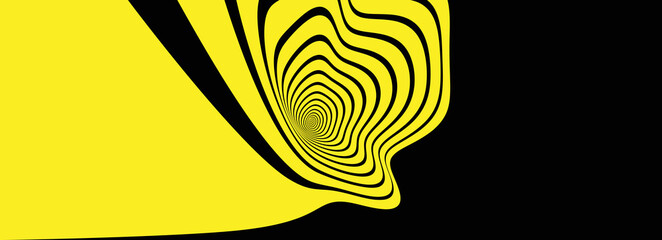 Obraz Abstract background made of distorted lines. Pattern with optical illusion. Psychedelic stripes. Vector illustration for brochure, flyer, card, banner or cover. - fototapety do salonu