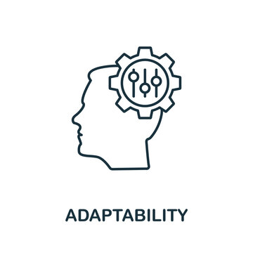 Adaptability icon. Line style element from life skills collection. Thin Adaptability icon for templates, infographics and more
