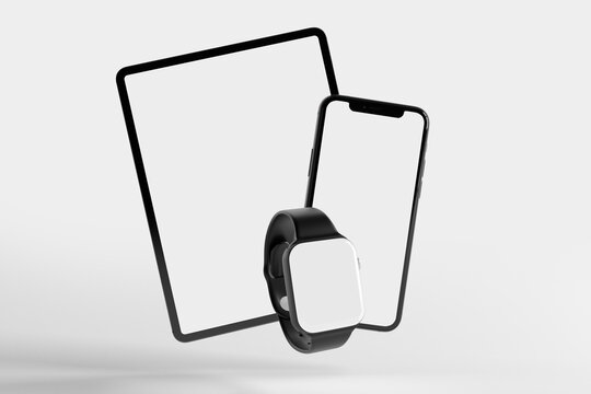 Mock up of device - 3d rendering