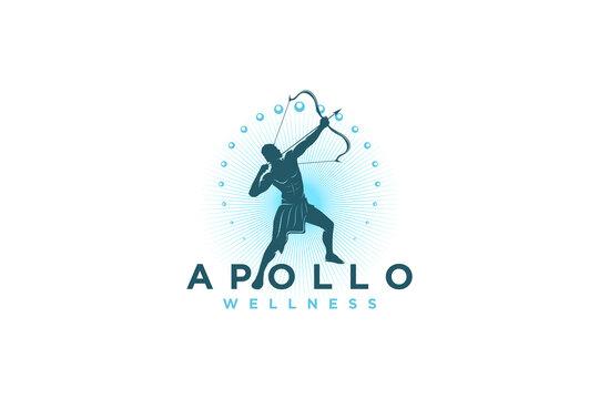 Apollo logo design wellness greek modern silhouette logo design.