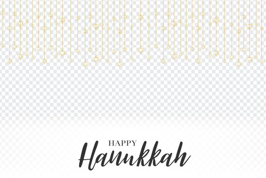 Happy Hanukkah. Traditional Jewish holiday. Chankkah banner or wallpaper background design concept Transparent overlay decor. Judaic religion decor.