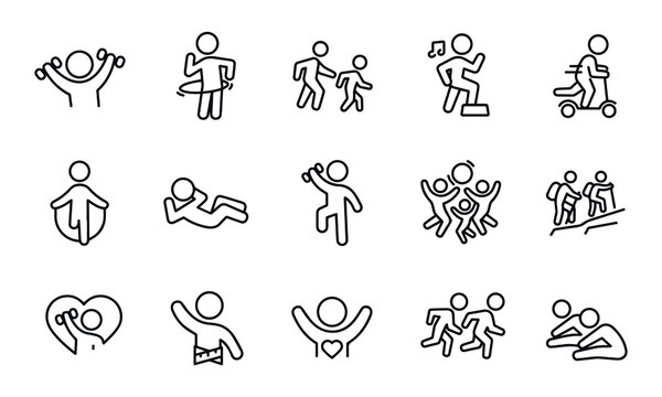 Childhood Fitness icons vector design
