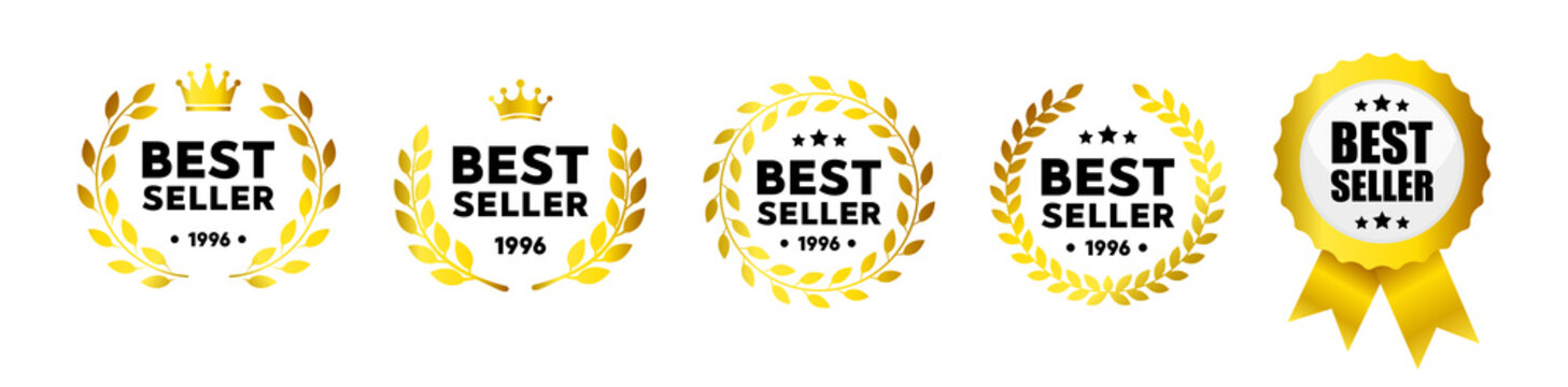 Best seller vector badge logo set