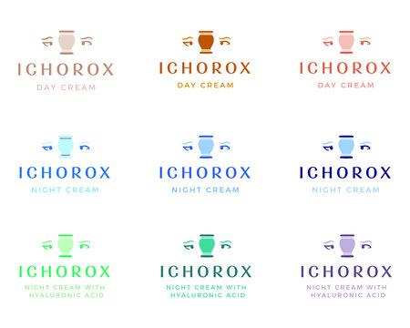 A beauty product logo inspired by greek mythology