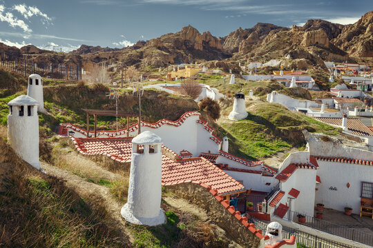 Guadix caves houses , was the way of life deeply rooted in the north of the province of Granada since the 16th century, Spain