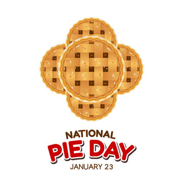 vector graphic of national pie day good for national pie day celebration. flat design. flyer design.flat illustration.