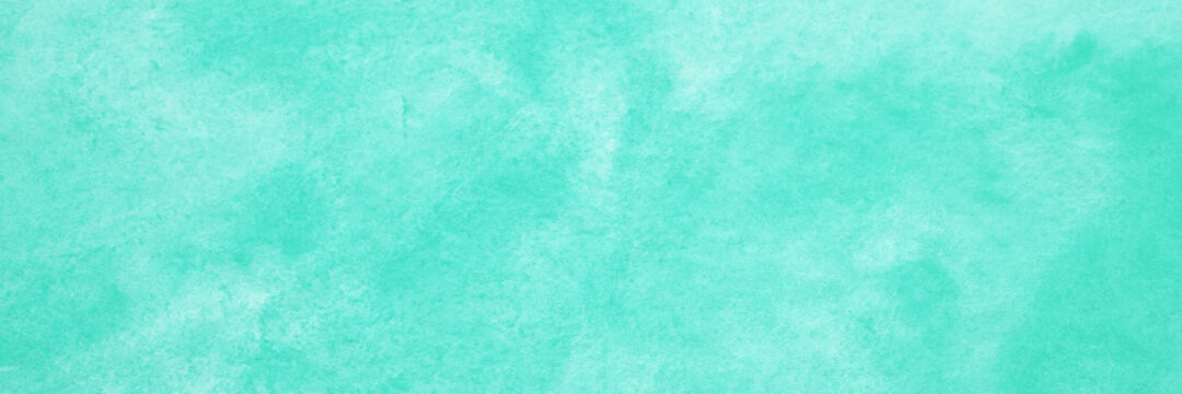 Green mint watercolour background, Watercolour painting soft textured on wet white paper background, Abstract green mint watercolor illustration banner, wallpaper
