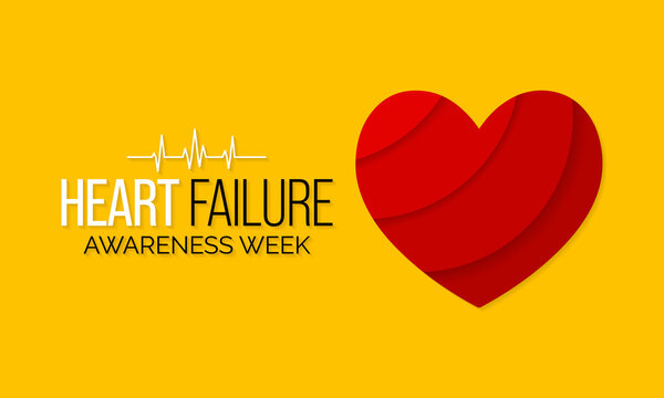 Vector illustration on the theme of Heart Failure awareness week observed each year during February.