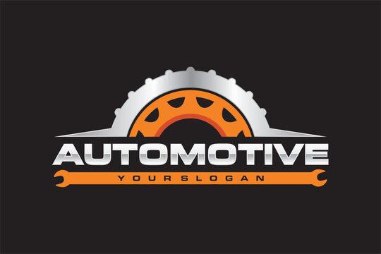 automotive wheel gear emblem logo