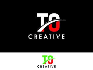 Fototapeta TO Letter Type Logo Image, To T O Logo Stock obraz