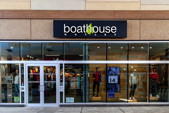 Boathouse store is seen in Niagara-on-the-Lake, Ontario, Canada on September 10, 2019. Boathouse is a Canadian store specialized in active lifestyle apparel and equipment.