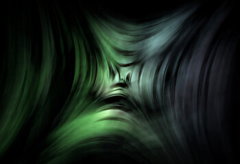 Wall Mural - abstracta, verde, alumbrado, con textura, designio, color,  ilustración, fondo, concepto , negro, ilustración, fractal