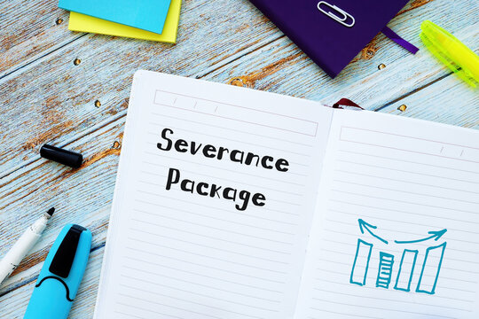 Severance Package phrase on the sheet.