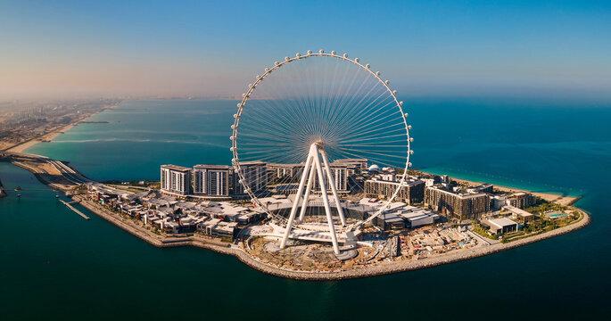 Ain Dubai ferris wheel on Bluewaters island in Dubai, UAE