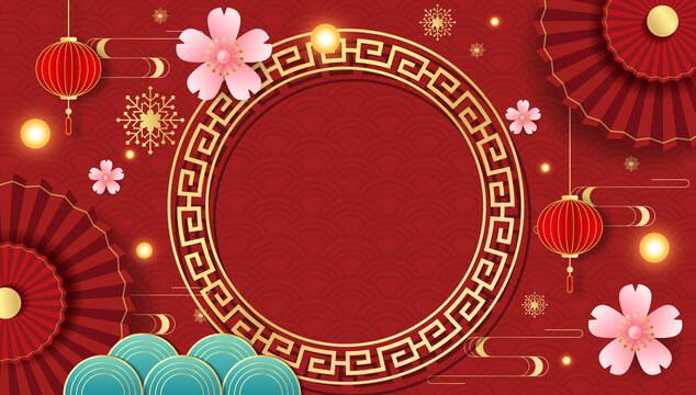 Background graphics for the Chinese Festival