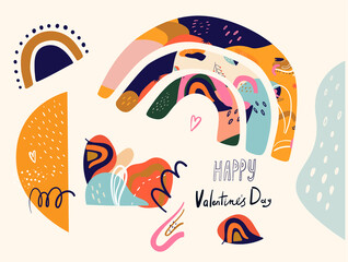 Fototapete - Valentines Day greetings. Valentines day card. Flyer, card, banner, brochure