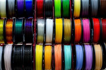 Fototapeta Plastic 3d Printing Filament Set obraz