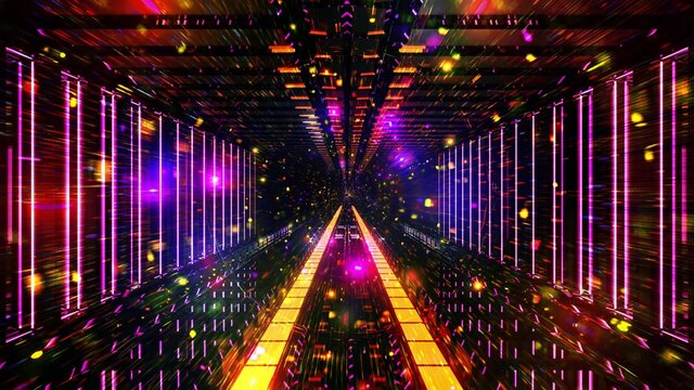 Glowing space particles science fiction 3d illustration background wallpaper