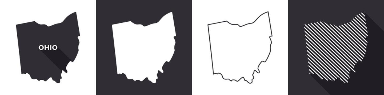 State of Ohio. Map of Ohio. United States of America Ohio. State maps. Vector illustration