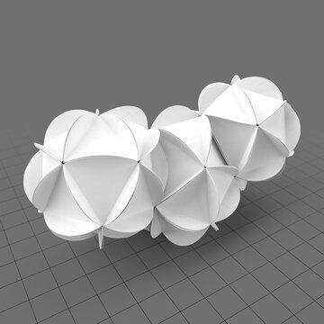 Origami clouds
