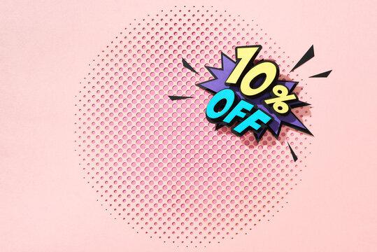 Sale discount promotion banner