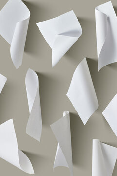 Pattern from blank curved papper.