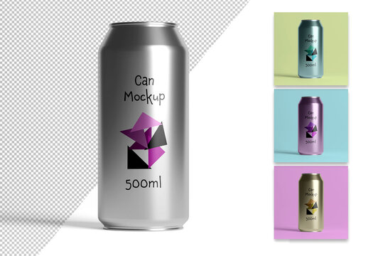 Mockup of a Metal Can
