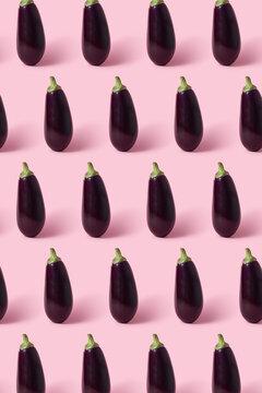 Fresh organic eggplant patter.