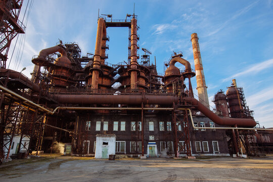 Metallurgical plant with the blast furnace equipment