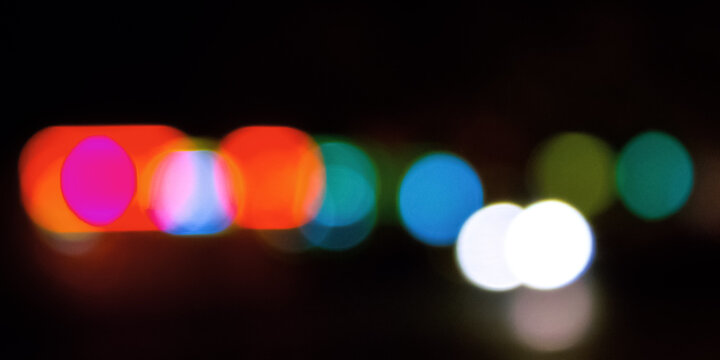 abstract background of street lights. de focused image with bokeh effect