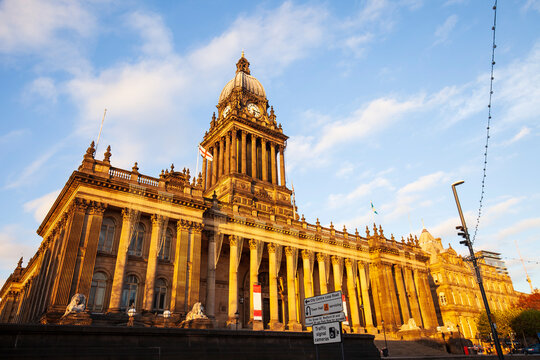 Town Hall in Leeds. West Yorkshire, Great Britain.