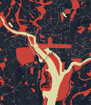 Washington city map - Streets of Washington