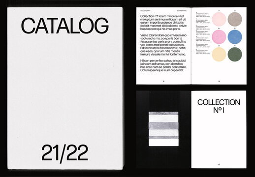 Pastel Textures Product Catalogue Layout