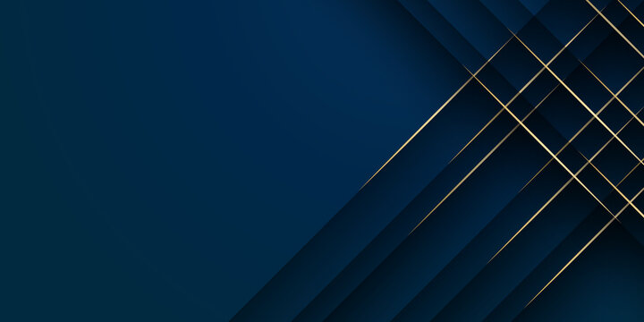 Abstract low polygonal pattern luxury golden line with dark navy blue template background. Luxury and elegant. Premium style for poster, cover, print, artwork. Vector illustration