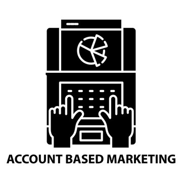 account based marketing icon, black vector sign with editable strokes, concept illustration