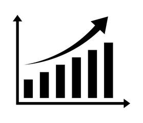 Fototapeta wykres rosnący obraz