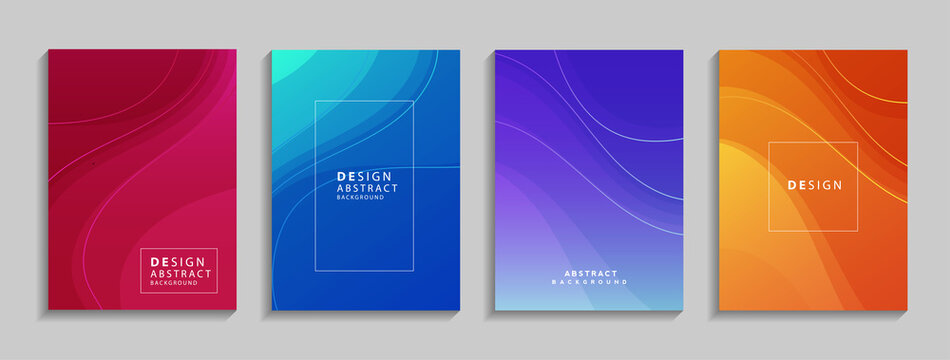 Modern colorful geometric abstract background. Fluid shapes composition for banner, poster, book or web. vector illustration design EPS10.