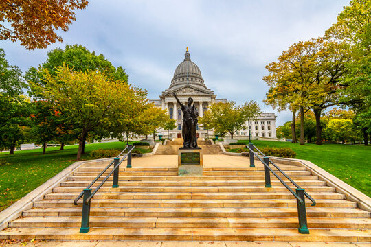 Wisconsin State Capitol view in Madison City of USA