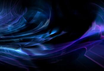Wall Mural - abstracta, azul, alumbrado, fucsia , degradación, gráfica, digital, curva,