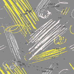 Abstract hand-drawn background with marker strokes and doodles in color of the year 2021.