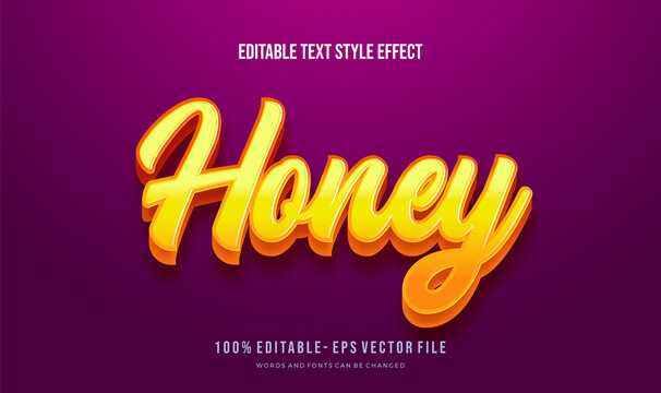 Modern editable text style effect.