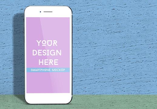 Vertical White Smartphone Screen Mockup